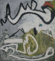 Gnawa, 1998, oil stick on canvas, 43 x 39 in